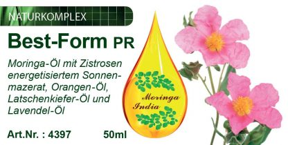 Best-Form PR - Moringa-Öl-Mazerat mit Zistrosen